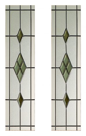 2 piece smoked abe lead glass glazing pack for malton internal door