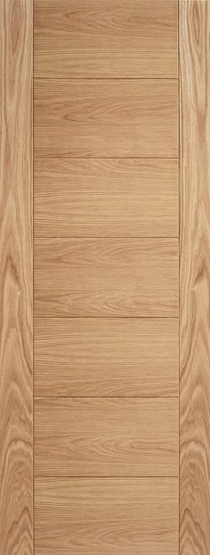 Prefinished oak carini 7 panel internal door