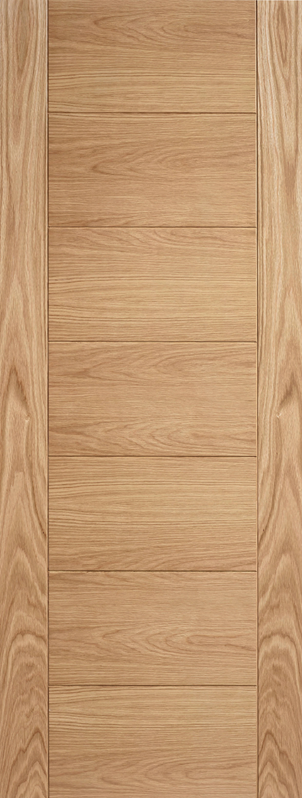 Oak carini 7 panel internal door