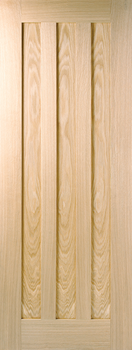 Prefinished oak idaho 3 panel internal door