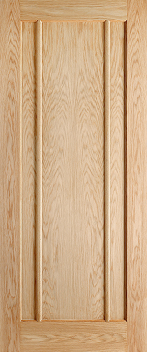 Oak lincoln 3 panel internal door
