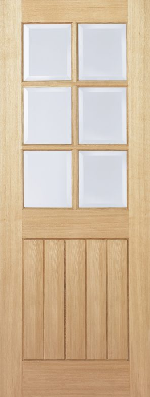 Oak mexicano 6l clear bevelled glazed internal door