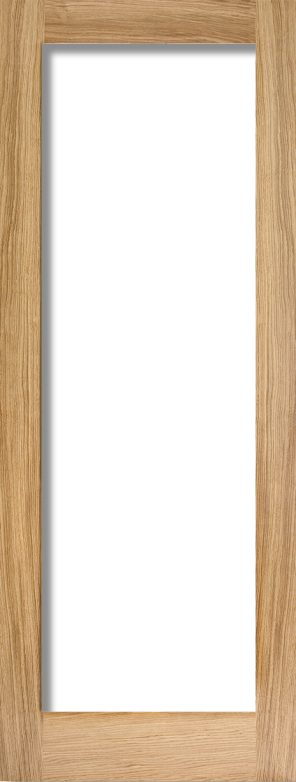 Oak pattern 10 clear glazed internal door