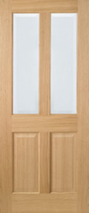 Prefinished oak richmond clear bevelled glazed non raised internal door