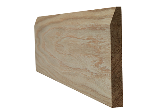 Oak faced chamfered skirting 18x146