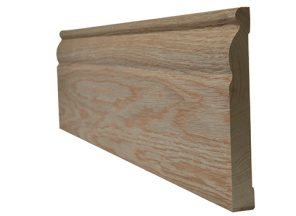 Oak faced ogee skirting (4 x 3m lengths per pack) 18x95mm