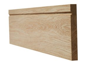 Oak faced single groove skirting 18x146mm (4 x 3m lengths per pack)