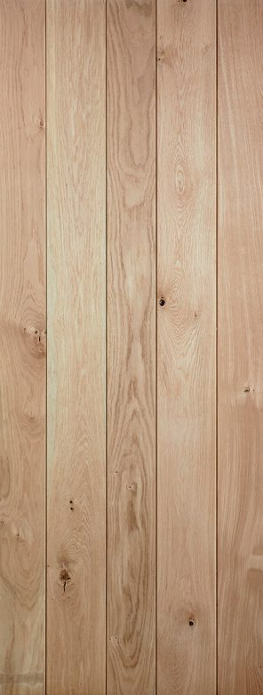 Nostalgia rustic solid oak ledged internal door