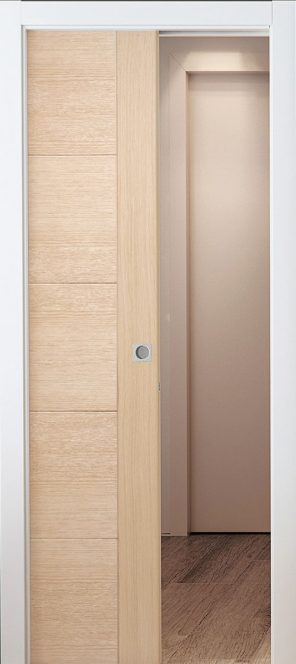 Single pocket door system set