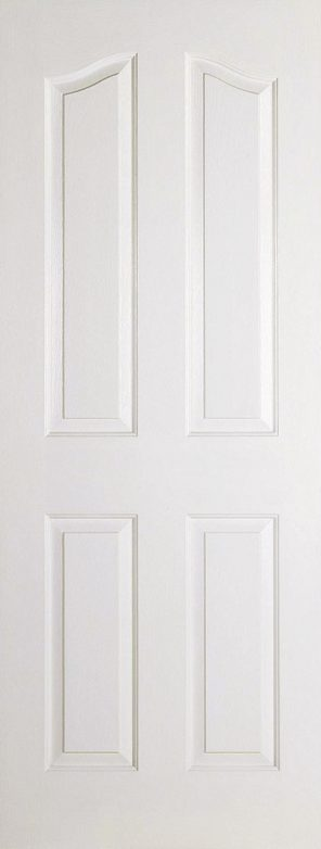 White primed composite mayfair 4 panel internal door